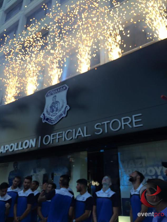 Opening Ceremony of Apollon FC Official Store